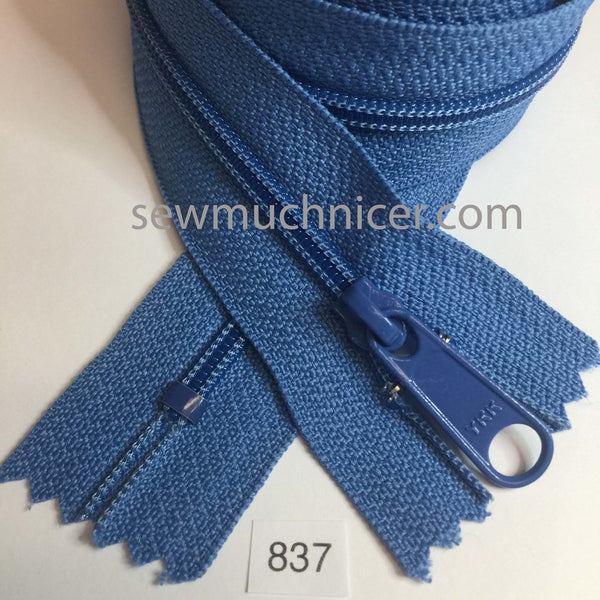 YKK zip #4.5 handbag pull 30in 0837 Astro Blue IN STOCK
