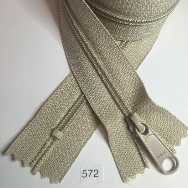 YKK zip #4.5 handbag pull 30in 0572 Beige IN STOCK