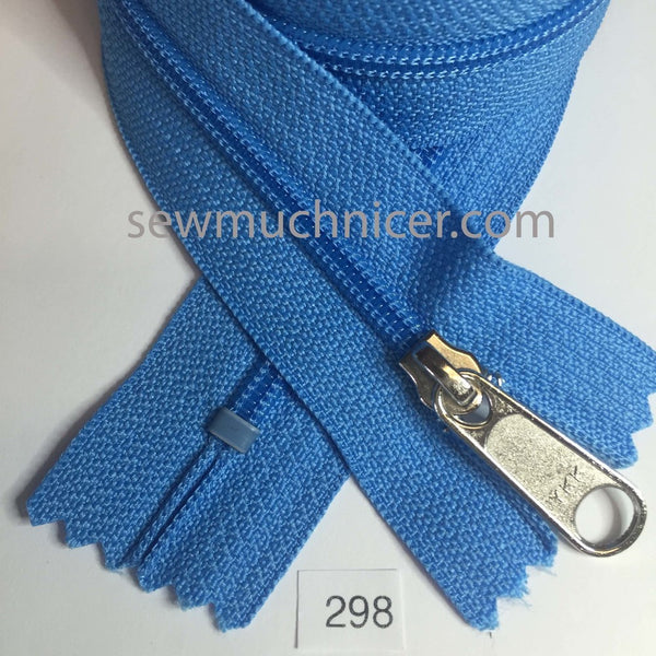 YKK zip #4.5 handbag pull 30in 0298 Bright Blue IN STOCK