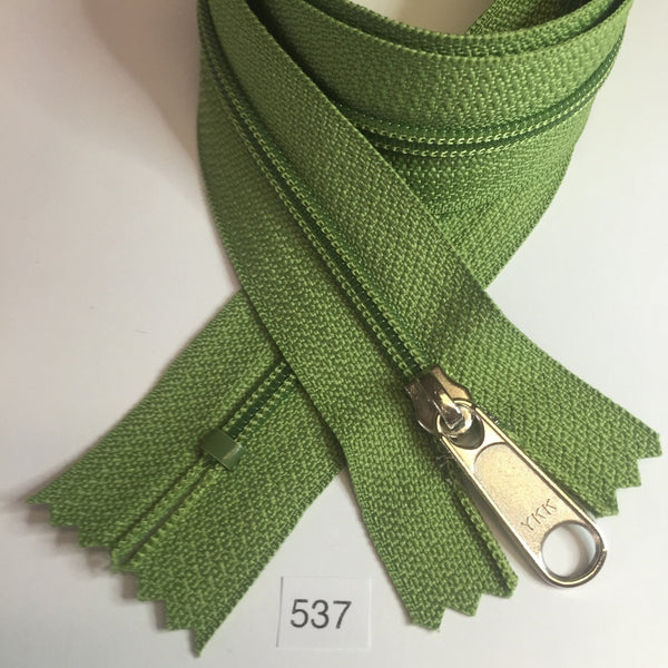YKK zip #4.5 handbag pull 30in 0537 Avocado Green IN STOCK