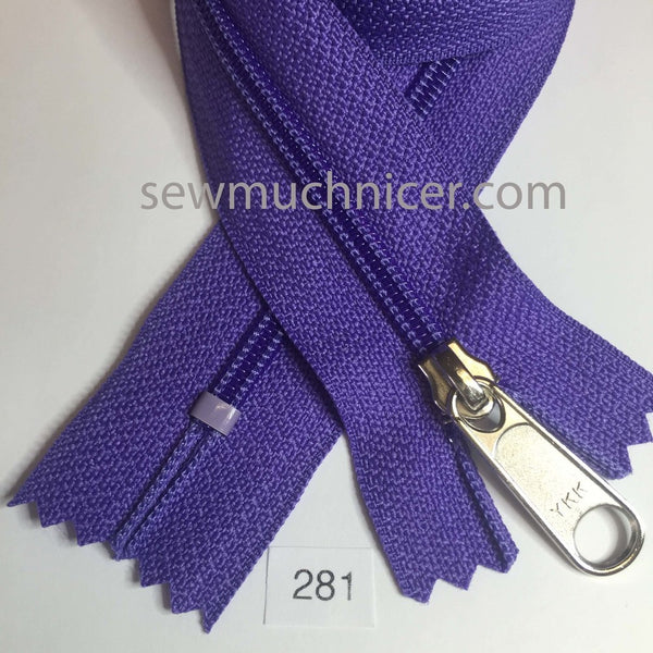 YKK zip #4.5 handbag pull 30in 0281 Grape Purple IN STOCK