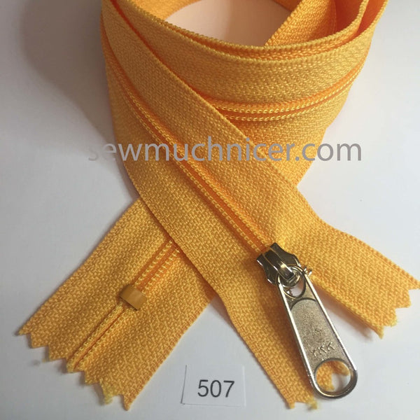 YKK zip #4.5 handbag pull 30in 0507 Creamy Tangerine IN STOCK