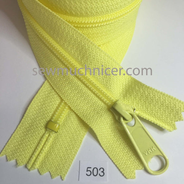 YKK zip #4.5 handbag pull 30in 0503 Lemon Yellow IN STOCK