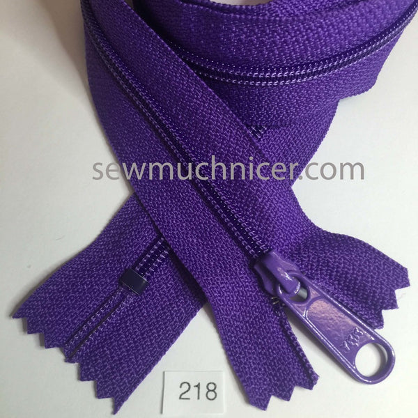 YKK zip #4.5 handbag pull 30in 0218 Purple IN STOCK