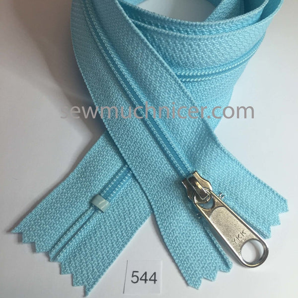 YKK zip #4.5 handbag pull 30in 0544 Sky Blue IN STOCK