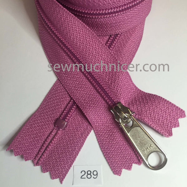 YKK zip #4.5 handbag pull 30in 0289 Fuchsia IN STOCK