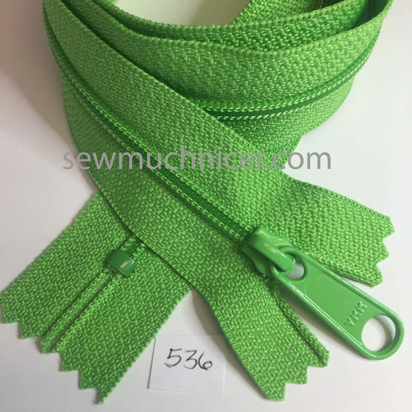 YKK zip #4.5 handbag pull 30in 0536 Spring Green IN STOCK
