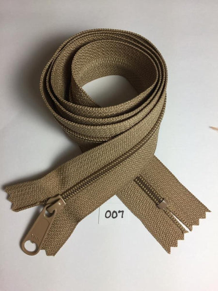 YKK zip #4.5 handbag pull 30in 0007 Bond Latte IN STOCK