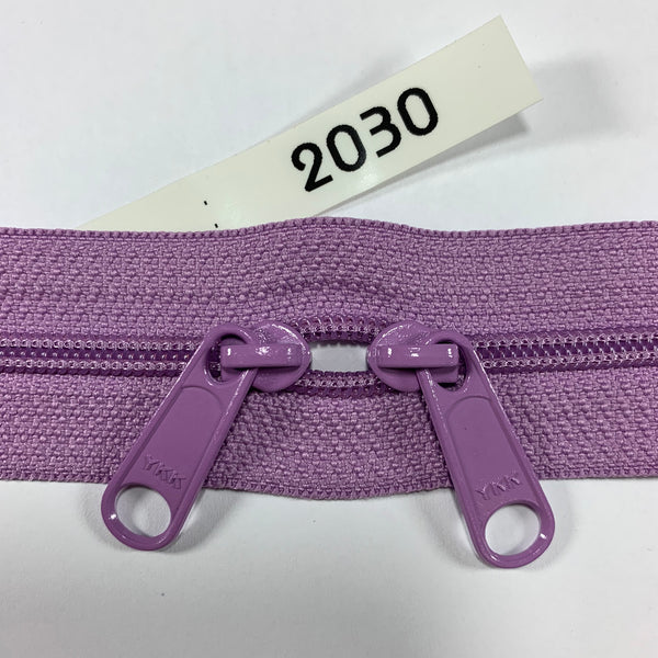 YKK zip #4.5 double handbag pull 40in 2030 IN STOCK
