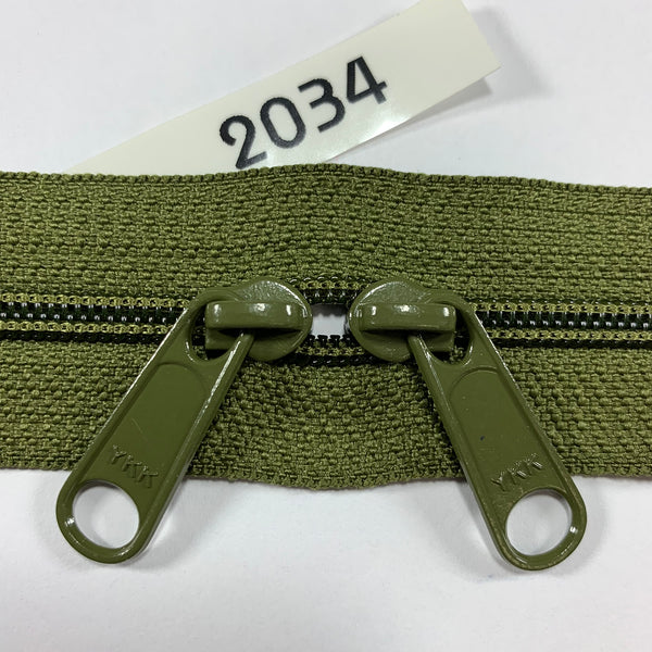 YKK zip #4.5 double handbag pull 40in 2034 IN STOCK