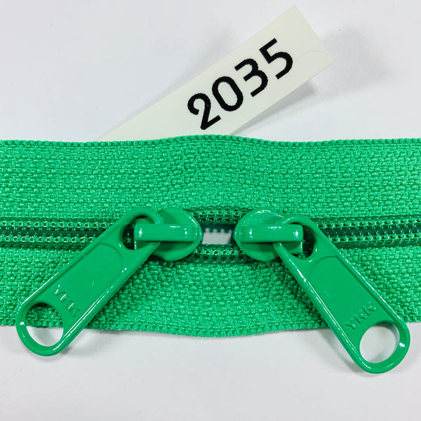YKK zip #4.5 double handbag pull 40in 2035 IN STOCK