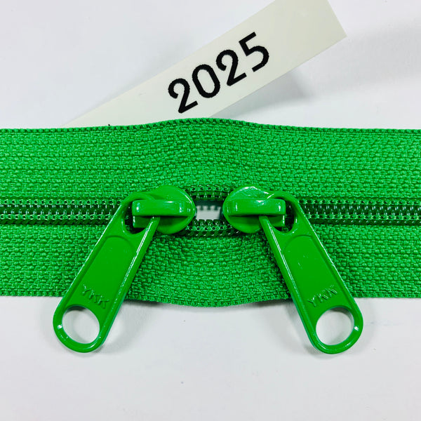 YKK zip #4.5 double handbag pull 40in 2025 IN STOCK