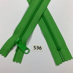 YKK zip #4.5 handbag pull 60inch  0536 GRASSHOPPER GREEN IN STOCK