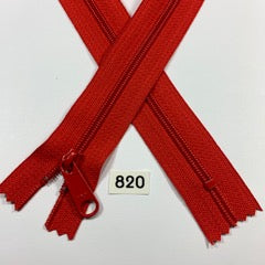 YKK zip #4.5 handbag pull 60inch  0820 CHERRY RED IN STOCK