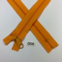 YKK zip #4.5 handbag pull 60inch  0056 BRIGHT ORANGE IN STOCK