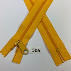 YKK zip #4.5 handbag pull 60inch  0506 YELLOW IN STOCK