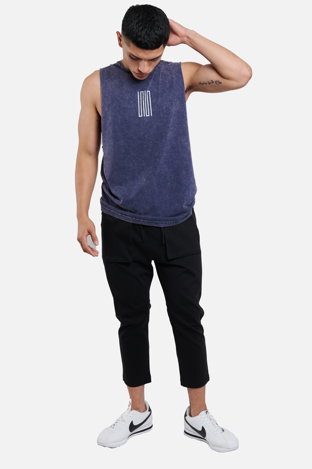 knox article 1 cut off logo tee - scrt society
