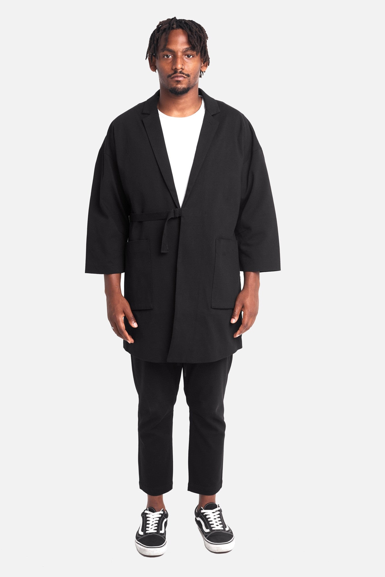 odin article 5 overcoat with 3/4 sleeves - scrt society