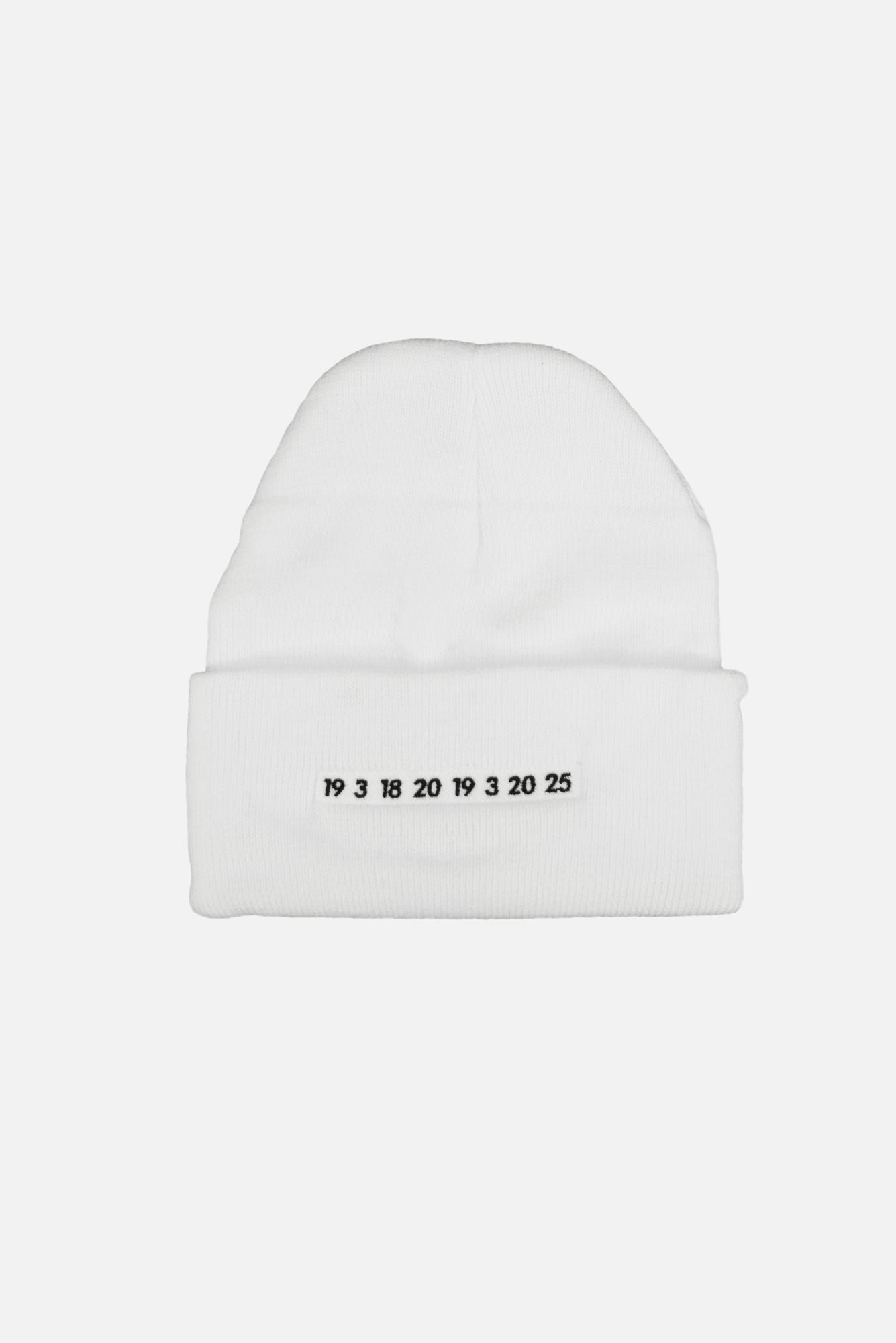 nieto article 7 numbers beanie - scrt society