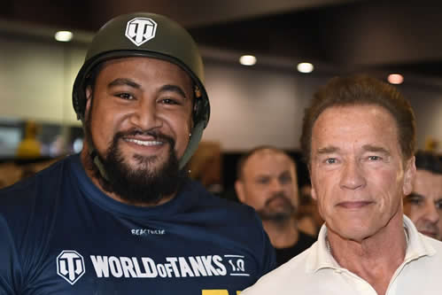 Athletes Gel Ambassador Eddie STRONGMAN Williams, Wins Arnold Pro and Enter Guiness World Records
