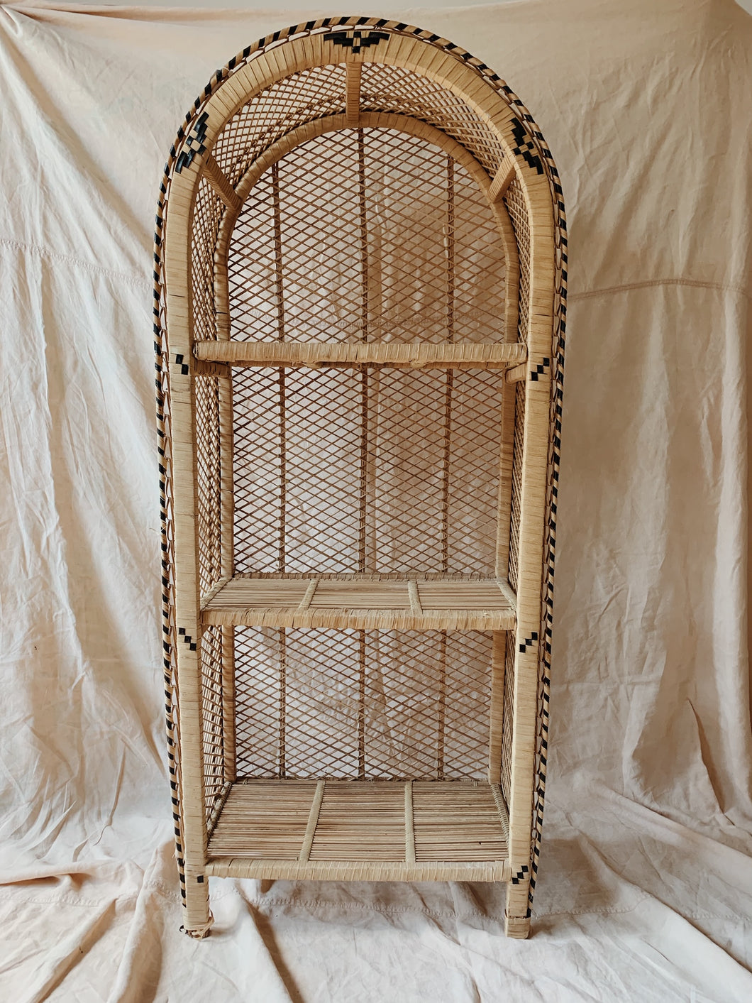 Wicker Book Shelf