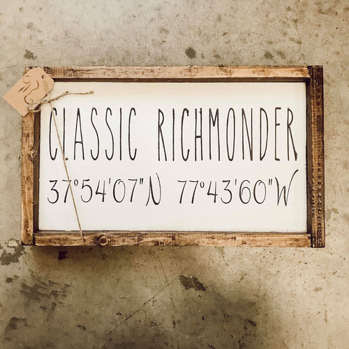 Classic Richmond with Coordinates