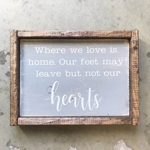 """Where we love"" Sign"
