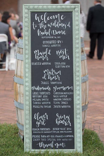 Chalkboard WEDDING RENTAL