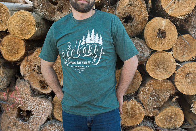 G'Day From The Valley Tee - Forest Green