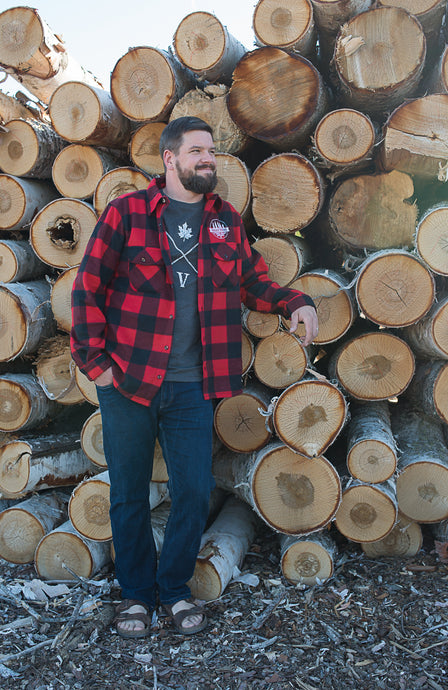 Classic Valley Proud Men's Flannel Shirt - Black & Red
