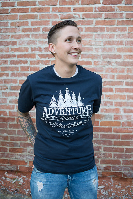 Adventure Awaits Tee - Navy