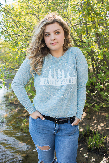 Classic Valley Proud Women's Crew - Blue Mix