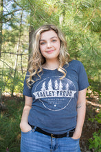 Classic Valley Proud Women's Vneck Tee - Denim