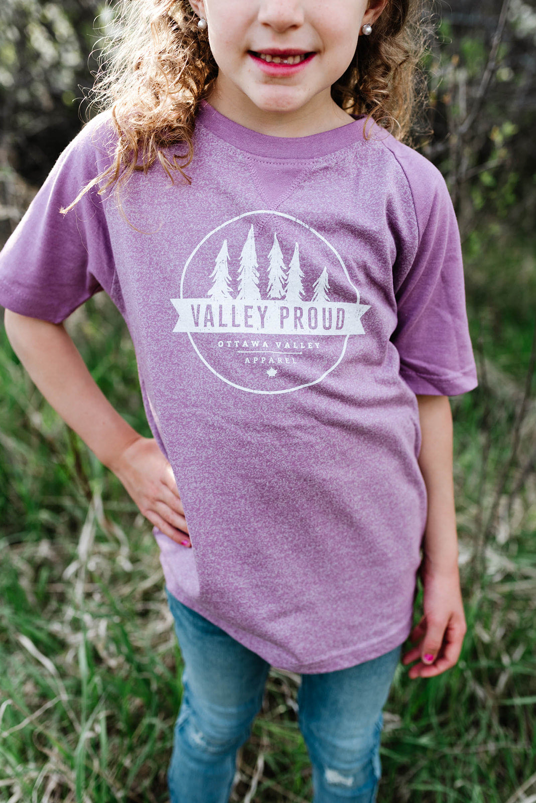 Valley Proud Toddler Tee - Lilac