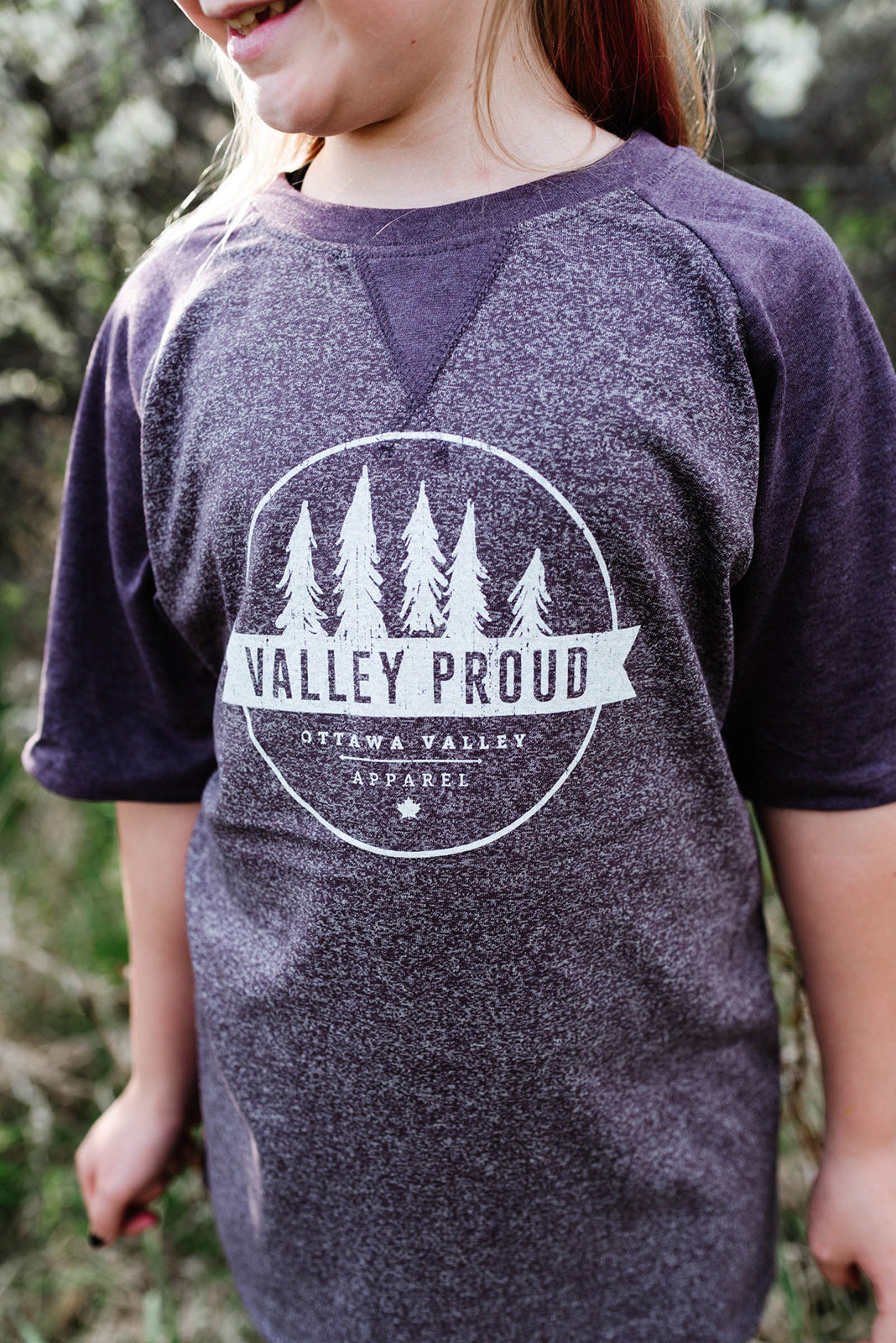 Valley Proud Youth Tee - Purple