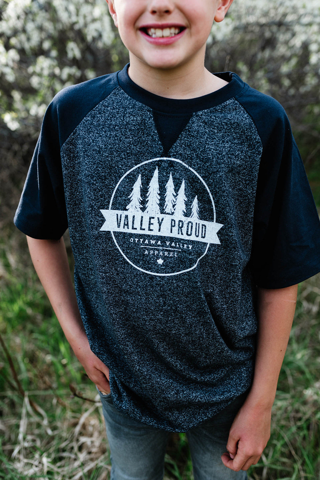 Valley Proud Youth Tee - Denim