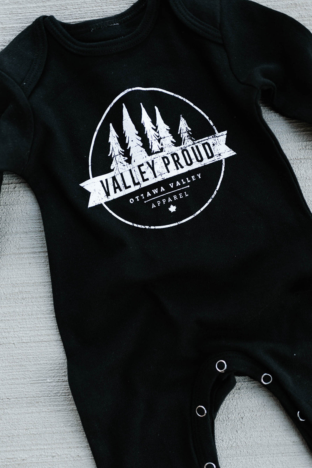 Valley Proud Baby Romper - Black