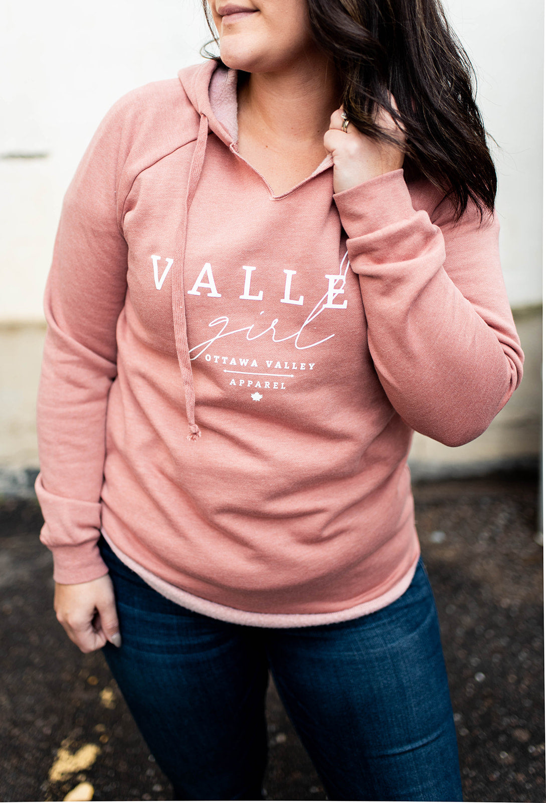 Valley Girl Women's Luxe Hoodie - Rose