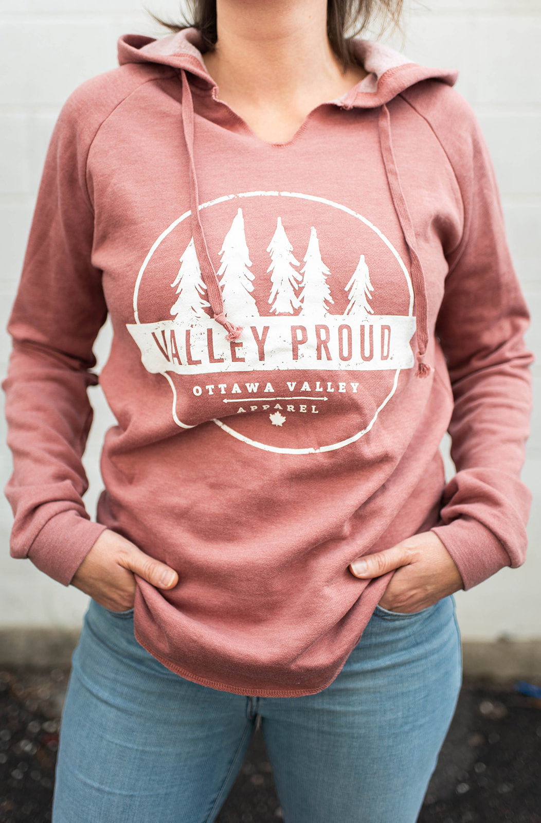 Valley Proud Women's Luxe Hoodie - Rose