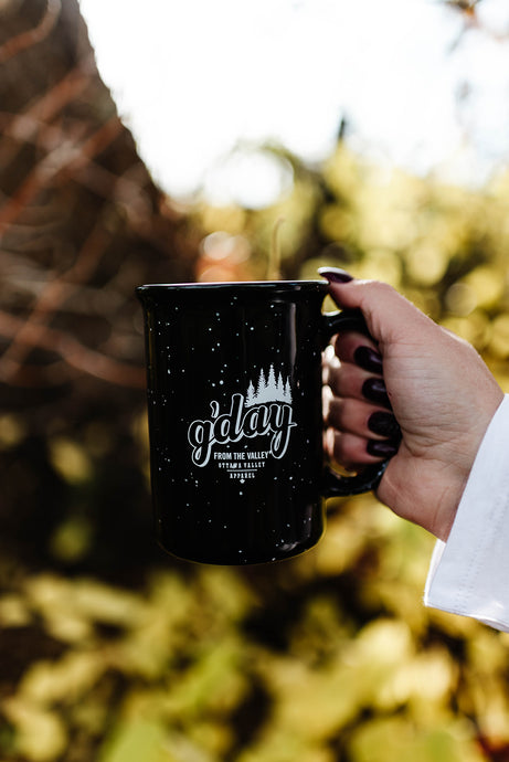 G'day Tall Ceramic Mug - Black
