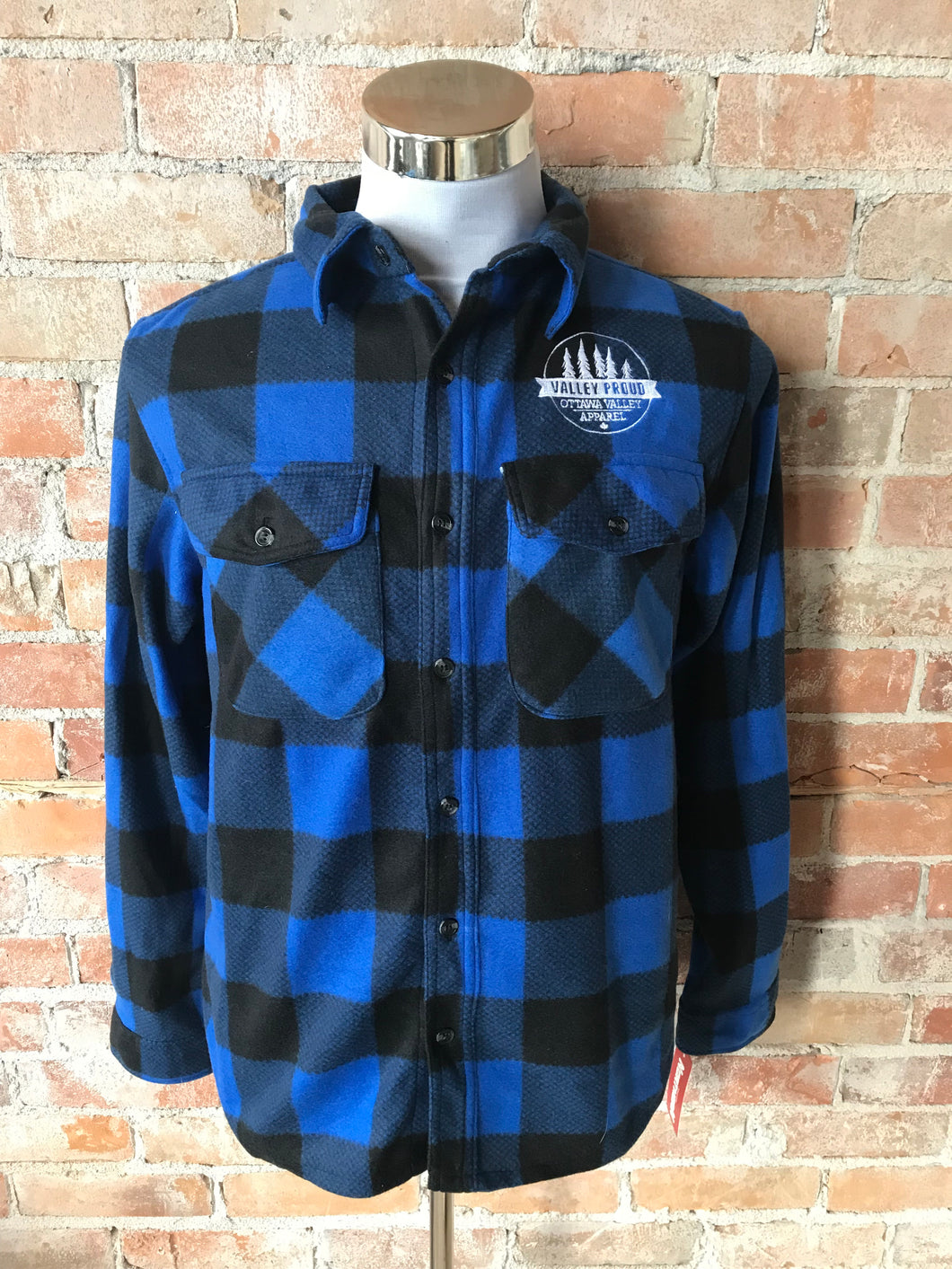 Classic Valley Proud Fleece Lumber Jacket - Blue & Black