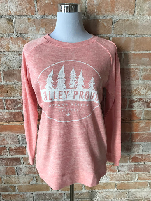 Classic Valley Proud Women's Crew - Coral Mix
