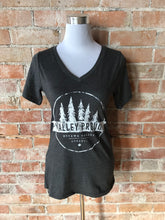 Classic Valley Proud Women's Vneck Tee - Charcoal