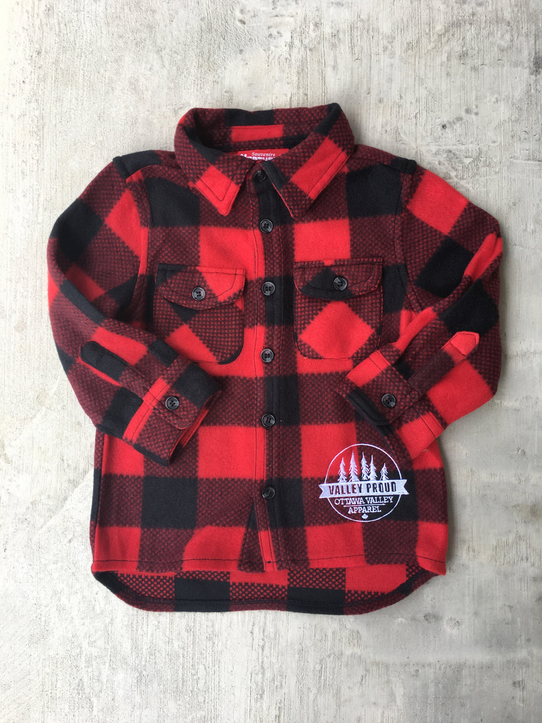 Children's Classic Valley Proud Lumber Jacket - Black & Red