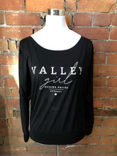Valley Girl Slouchy Long Sleeve - Black