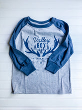Valley Boy Toddler Baseball Tee - Blue & Grey