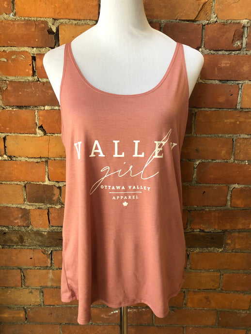 Valley Girl Women's Slouchy Tank - Rose