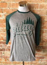 G'Day From The Valley Baseball Tee - Grey & Green