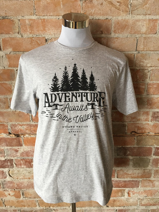 Adventure Awaits Tee - Light Grey