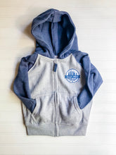 Valley Proud Toddler Zip Up - Blue & Grey